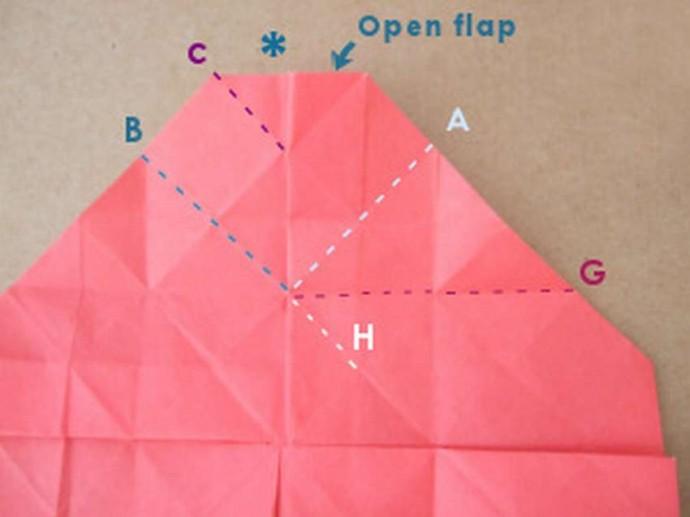 Делаем розу оригами 8