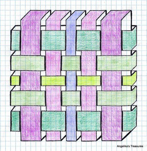 Идеи рисунков по клеточкам 9