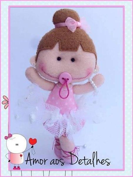 Маленькие балерины: куколки из фетра