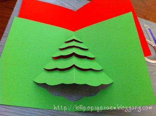 Новогодняя открытка, которую сделают и малыши 5
