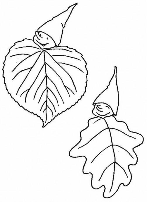 Осенние поделки из листьев