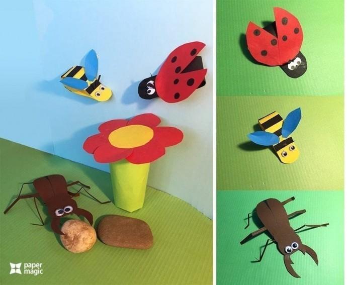 Идеи поделок для малышей из цветной бумаги