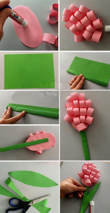 Интересный вариант цветка из бумаги