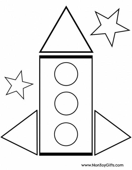 Аппликация в виде ракеты