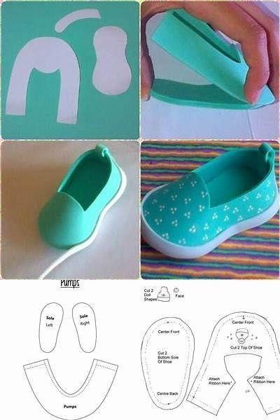 Туфельки для кукол из фоамирана