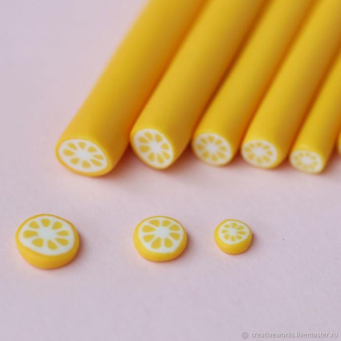 Лепим из полимерной глины лимон