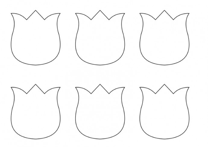 Шаблон для открытки тюльпаны для вырезания из бумаги