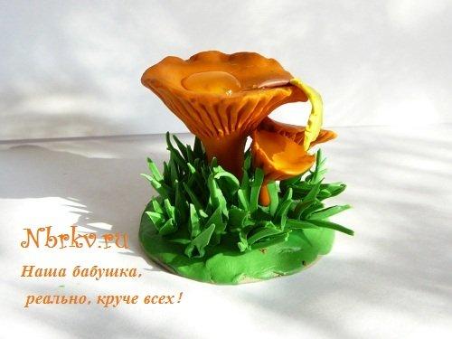 Лепим восхитительные грибочки из пластилина