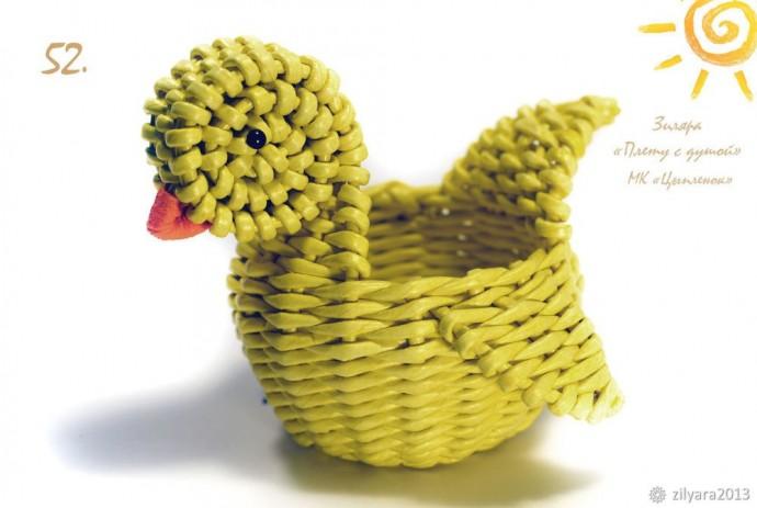 Плетём милого цыплёнка на праздник Светлой Пасхи