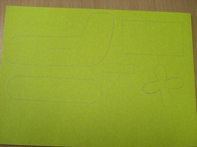 Самолетик из картона 2