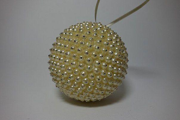 Драгоценные елочные шары и елочки из жемчуга 1