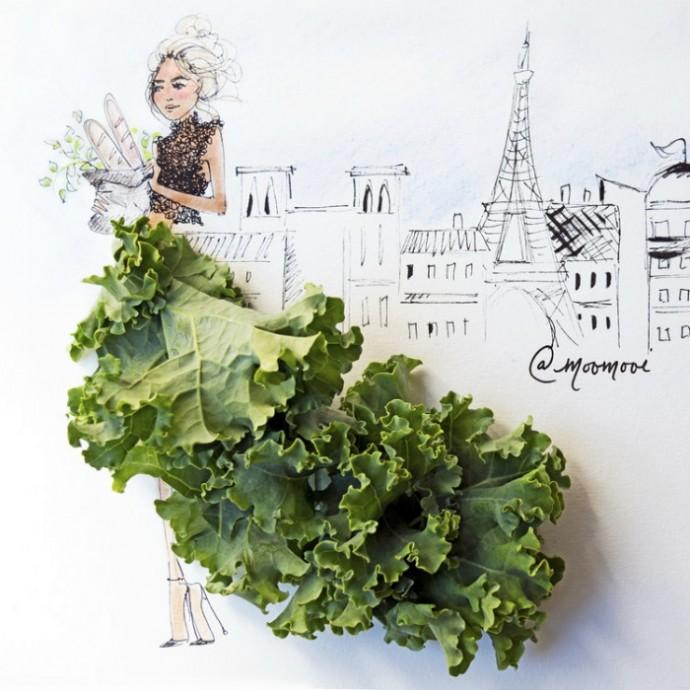Как создать картину из овощей