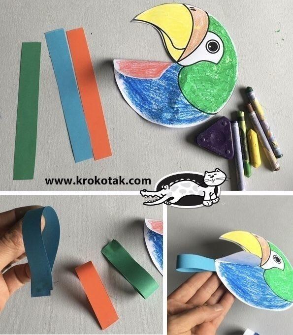 Парочка ярких попугайчиков на палочке