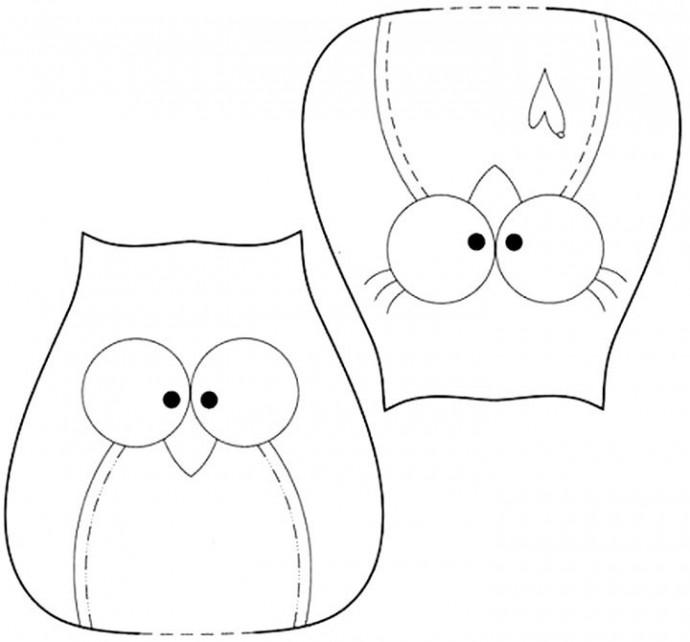 Подвесное украшение: мягкие совята детскими руками