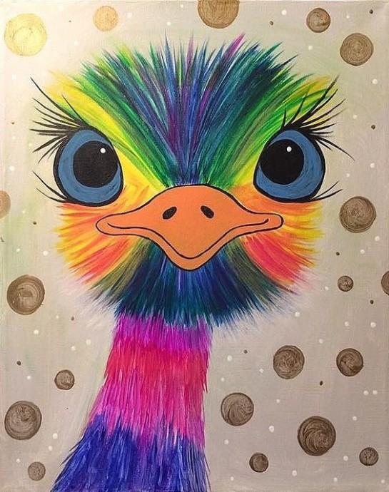 Радужный страус