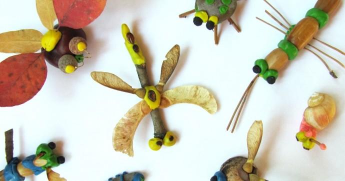 Насекомые из пластилина и природного материала: идеи для детского творчества