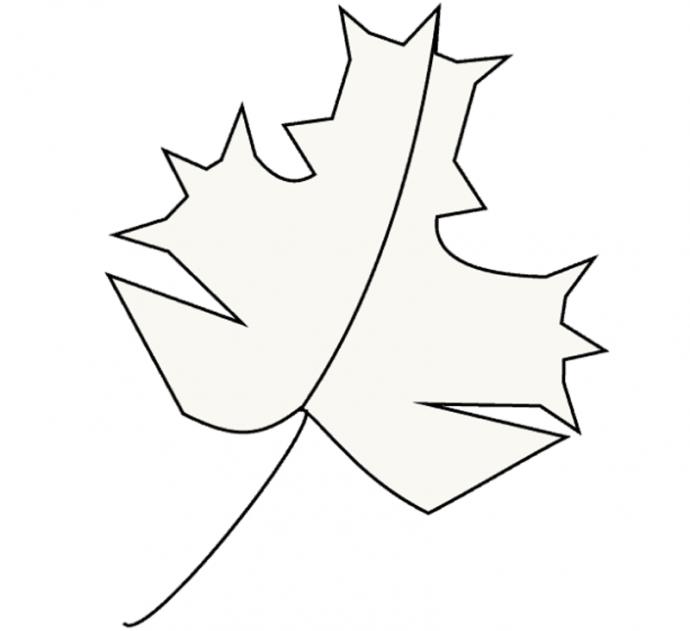 Техника рисования кленового листика