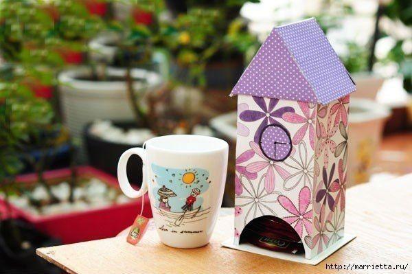 Домик для чайных пакетиков: мастер-класс