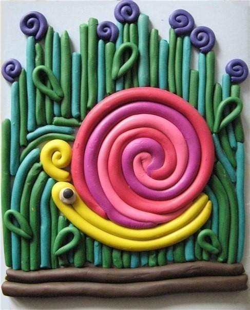 Идеи рисования пластилином из шприца