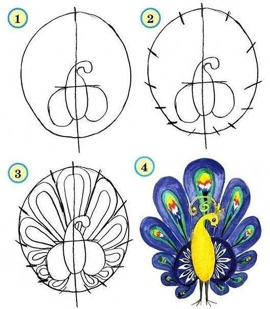 Рисуем птиц 5