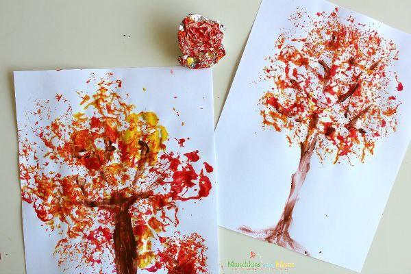 Создаем с детьми разные красивые осенние деревья