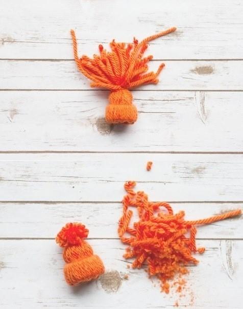 Как сделать шапочку из ниток и втулки
