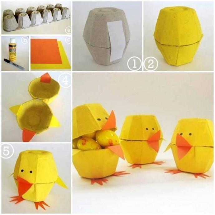 Поделки из коробок для яиц с детьми 5