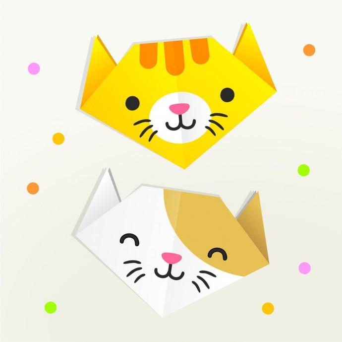 Кошки-оригами