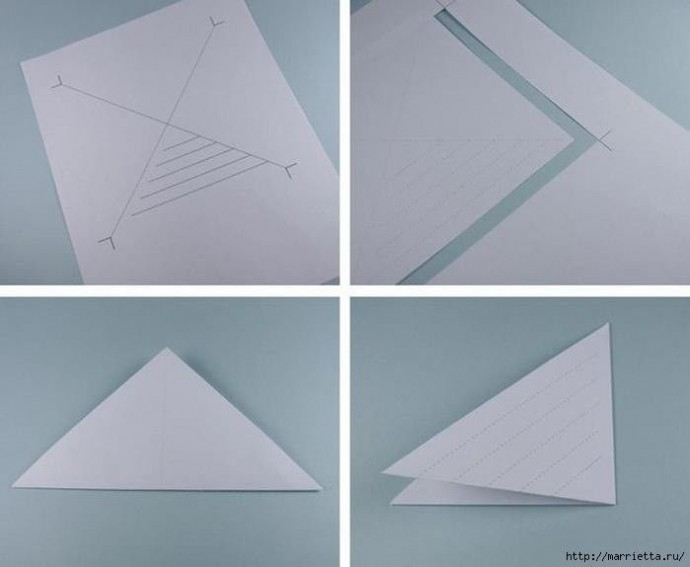 Сложная объёмная снежинка из бумаги