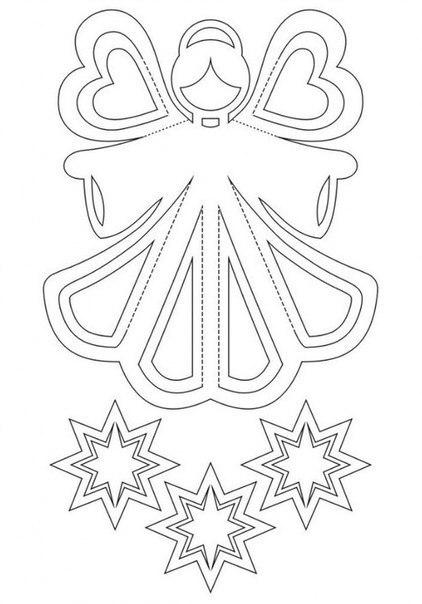 Aнгелочек из бумаги 1