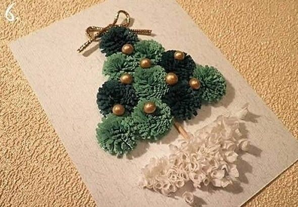 Открытка с ёлочкой к Рождеству 6