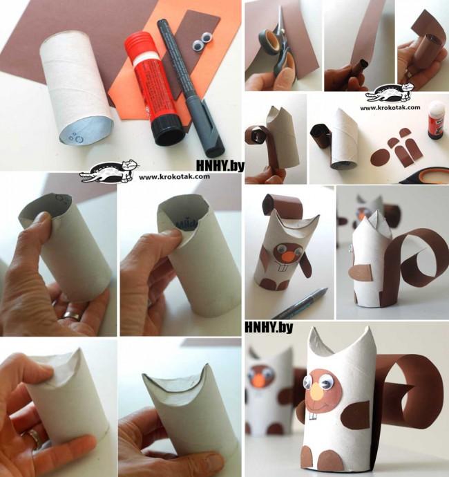 Делаем поделки из картонных втулок