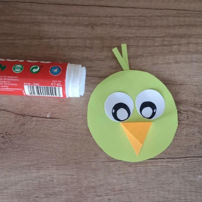 Нежные птички из цветной бумаги