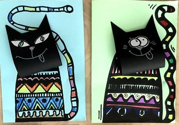 Котики с объёмными мордочками