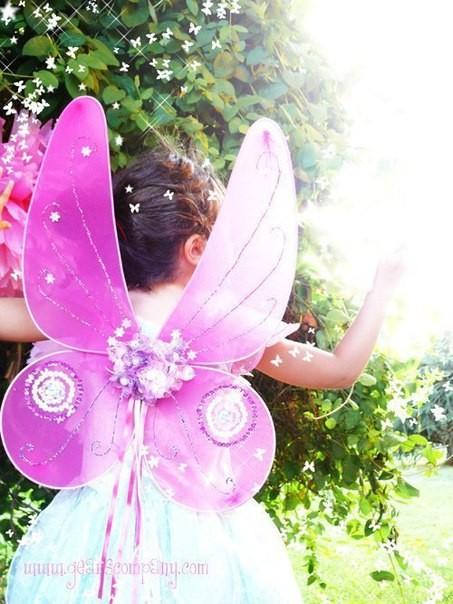 Крылышки для маленькой феи: мастер-класс
