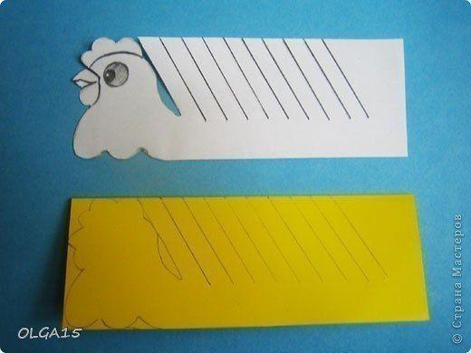 Объёмные курочка и петушок из цветной бумаги