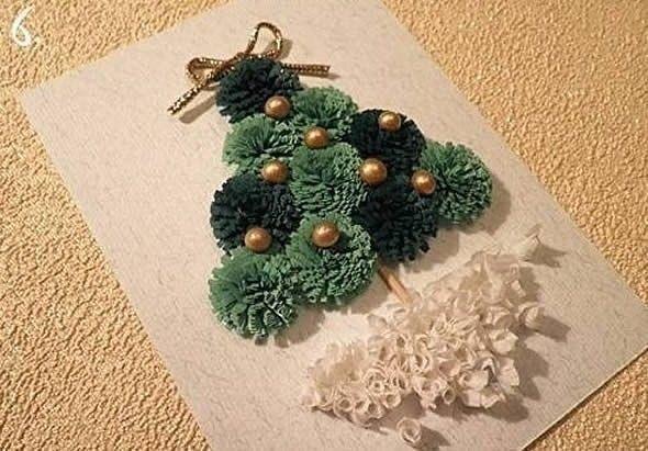 Открытка с ёлочкой к Рождеству 0