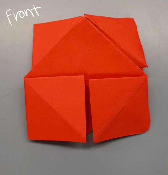 Чудесный цветок оригами 14