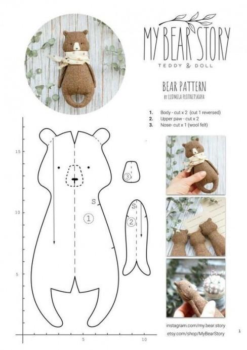 Медвежонок, сделанный руками ребенка