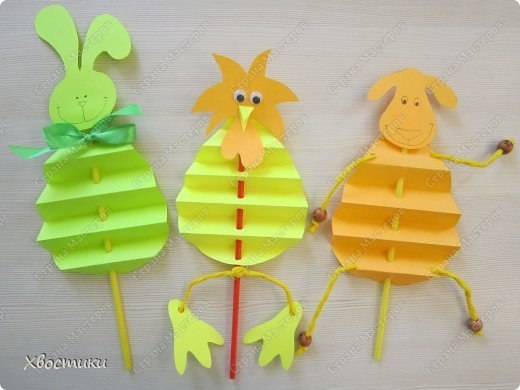 Поделки с детьми из бумаги, сложенной гармошкой