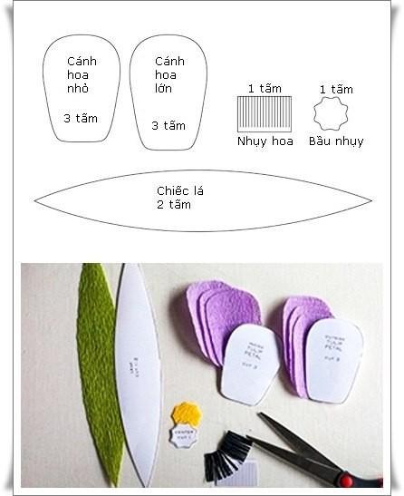 Разноцветный букетик тюльпанов из цветной гофрированной бумаги 2