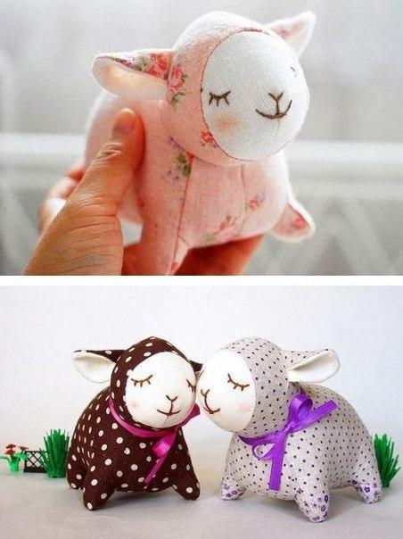 Шьем очаровательных текстильных овечек