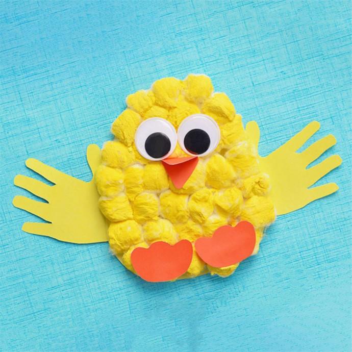 Аппликация для малышей: очаровательный цыпленок