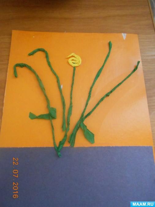 Летний букетик с цветами из жгутиков
