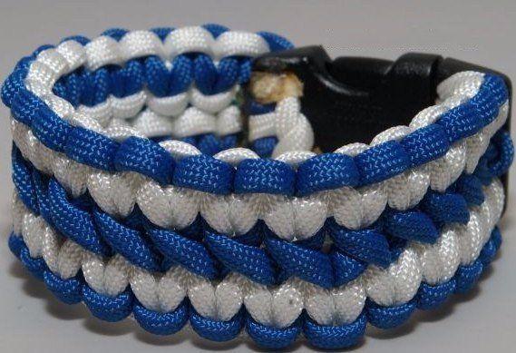 Двухцветный браслет макраме
