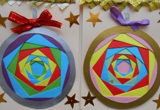 """Новогодняя открытка в технике """"Айрис-фолдинг"""""""