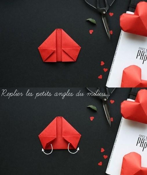 Объемное сердце из бумаги 6