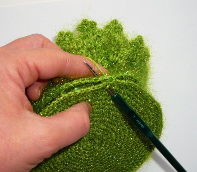 Вязаная елочка: описание вязания и мастер-класс 7