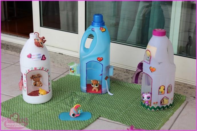 Детские поделки из пластиковых бутылок от порошка