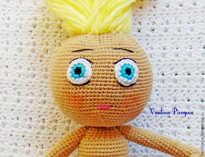 Как оформить лицо куколке 9